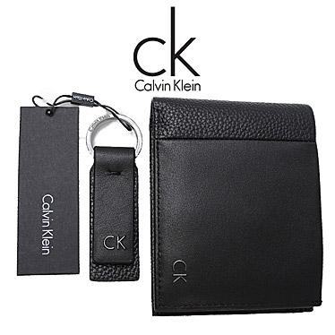 カルバンクライン 財布 Calvin Klein Jeans メンズ 二つ折り財布 キーリング付 K50K503708 ブラック