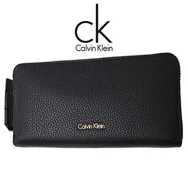カルバンクライン 財布 Calvin Klein メンズ 長財布 Klein ラウンドファスナー K60K604018 長財布 K60K604018 ブラック, まちのみしんやさん:13923856 --- itxassou.fr