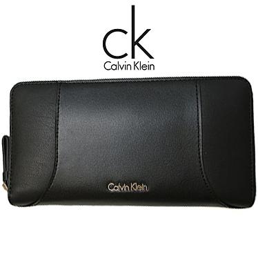 カルバンクライン 財布 Calvin Klein メンズ 長財布 ラウンドファスナー K60K602086 001 ブラック