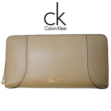 カルバンクライン 財布 Calvin Klein レディース 長財布 ラウンドファスナー K60K602086 068 ベージュ