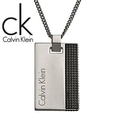 カルバンクライン ネックレス Calvin Klein プレート ペンダント KJ4JBN200100 ステンレスネックレス