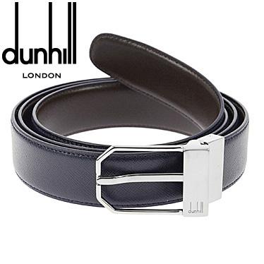 ダンヒル ベルト dunhill メンズベルト 本革 ネイビー/ブラウン リバーシブル HPV227N 【楽ギフ_メッセ入力】