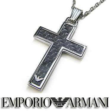 エンポリオ アルマーニ ネックレス EMPORIO ARMANI SIGNATURE クロス ペンダント EGS1705040 ステンレスネックレス