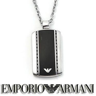 エンポリオ アルマーニ ネックレス EMPORIO ARMANI イーグルロゴ プレート ペンダント EGS1921040 ステンレスネックレス