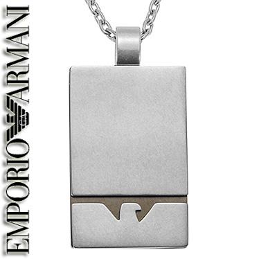 エンポリオ アルマーニ ネックレス EMPORIO ARMANI メンズ プレート ペンダント EGS2302001 ステンレスネックレス