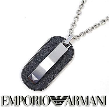 エンポリオ アルマーニ ネックレス EMPORIO ARMANI メンズ プレート ペンダント EGS2538040 ステンレスネックレス