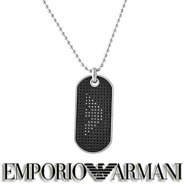 エンポリオ アルマーニ ネックレス EMPORIO ARMANI メンズ プレート ペンダント EGS2547040 ステンレスネックレス