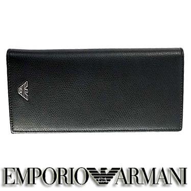 エンポリオ アルマーニ 財布 EMPORIO ARMANI メンズ 長財布 ブラック YEM474 YAQ2E 81072