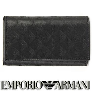 エンポリオ アルマーニ キーケース EMPORIO ARMANI メンズ ブラック YEMG68 YC043 80001 【楽ギフ_メッセ入力】