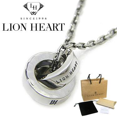 ライオンハート シルバー925 ネックレス LION HEART 槌目ダブルリングネックレス 01NE0811SV