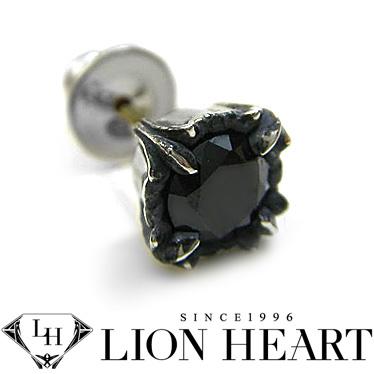 ライオンハート ピアス LION HEART シルバー925 シングルピアス メンズ 01EA0181BK ブラック
