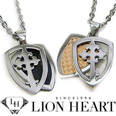 Brjltd rakuten global market lionheart peanecklas mens ladies lionheart peanecklas mens ladies lion heart emblem pendant 2 book set 04n131sl04n131sm stainless necklace aloadofball Images