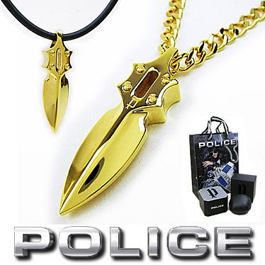 ポリス ネックレス POLICE キャスティングアローペンダント IMPACT 20575PSG03 ゴールドカラー ステンレスネックレス 【楽ギフ_メッセ入力】