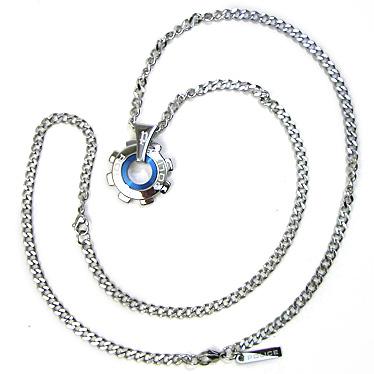 警方项链警方反应器 gearmochief 24232PSN01 不锈钢项链,市市原勇磨损模型