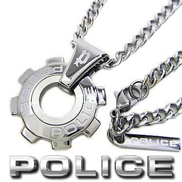 ポリス ネックレス POLICE REACTOR ギアモチーフペンダント 24232PSS01 ステンレスネックレス