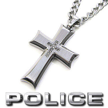 ポリス POLICE ネックレス ZEAL クロスペンダント 26160PSS ステンレスネックレス