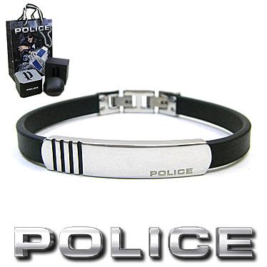 ポリス ブレスレット POLICE レザー ステンレス PORTSEA 26315BLSBA