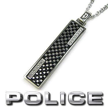 ポリス ネックレス POLICE メンズ プレート ペンダント JASPER 26396PSS01 ステンレス