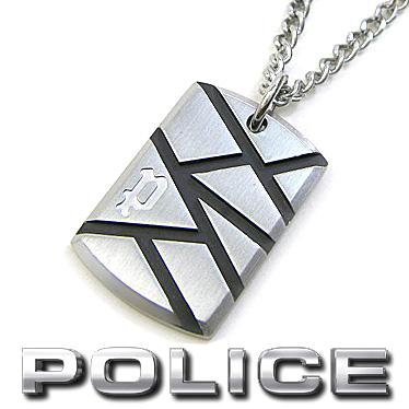 ポリス ネックレス POLICE メンズ プレート ペンダント LAUGHARNE 26514PSB01 ステンレスネックレス