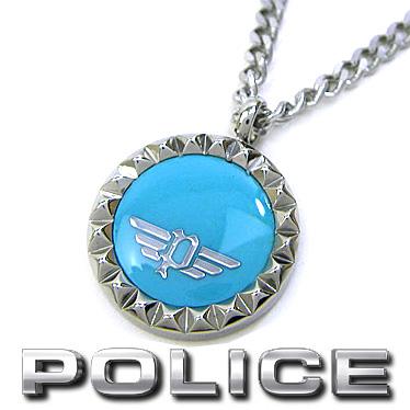 ポリス ネックレス POLICE ターコイズ ペンダント VERNAZZA 26515PSS03 ステンレスネックレス