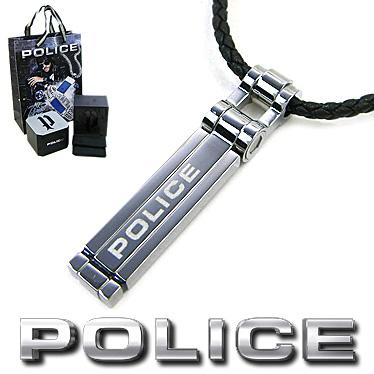 ポリス ネックレス POLICE メンズ ステンレス ペンダント THIONVILLE 26526PLS01 ブラックレザーチョーカー