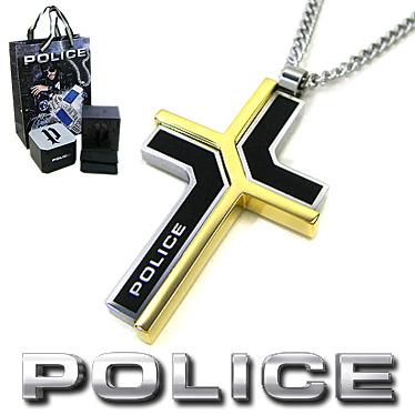 ポリス ネックレス POLICE メンズ クロス ペンダント COLMAR 26531PSBG2 ステンレスネックレス