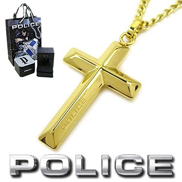 ポリス ネックレス POLICE メンズ クロス ペンダント TARIFA 26535PSG02 ステンレスネックレス ゴールド