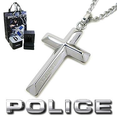 ポリス ネックレス POLICE メンズ クロス ペンダント TARIFA 26535PSS01 ステンレスネックレス シルバー