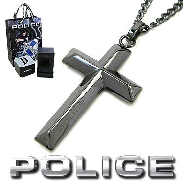 ポリス ネックレス POLICE メンズ クロス ペンダント TARIFA 26535PSU03 ステンレスネックレス ガンメタブラック