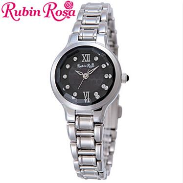 ルビンローザ 腕時計 レディース RubinRosa ソーラーウォッチ R013SOLSBK 【楽ギフ_メッセ入力】