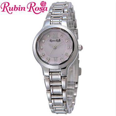 ルビンローザ 腕時計 レディース RubinRosa ソーラーウォッチ R013SOLSPK 【楽ギフ_メッセ入力】
