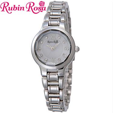 ルビンローザ 腕時計 レディース RubinRosa ソーラーウォッチ R013SOLSWH 【楽ギフ_メッセ入力】