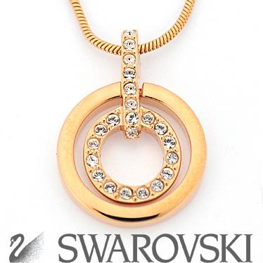 スワロフスキー ネックレス SWAROVSKI Circle ペンダント 1081976 ピンクゴールド 【楽ギフ_メッセ入力】