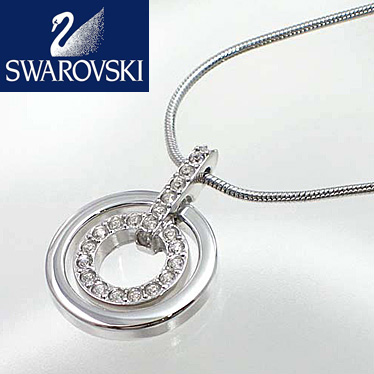 スワロフスキー ネックレス SWAROVSKI Circle ペンダント 681251 シルバー 【楽ギフ_メッセ入力】