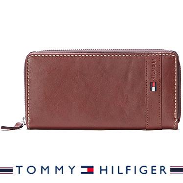 トミーヒルフィガー 財布 TOMMY HILFIGER メンズ長財布 ラウンドファスナー Super Waxy TAN 31TL13X023