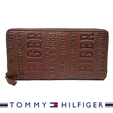 トミーヒルフィガー 財布 TOMMY HILFIGER メンズ長財布 ラウンドファスナー TAN Eastbourne 31TL13X026