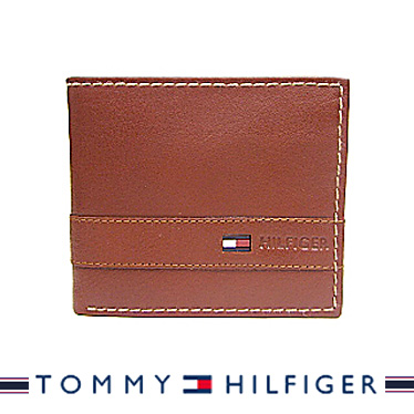 トミーヒルフィガー 財布 TOMMY HILFIGER メンズ 二つ折り財布 Super Waxy TAN 31TL25X019