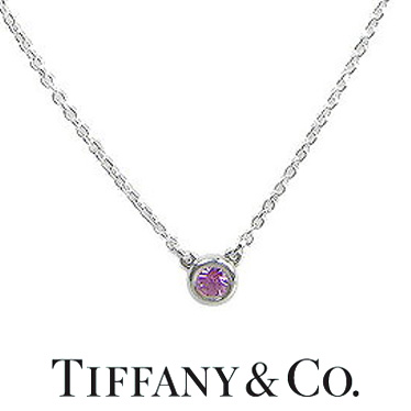 ティファニー ネックレス TIFFANY&CO. カラー バイ ザ ヤード ペンダント ピンクサファイヤ 25390474