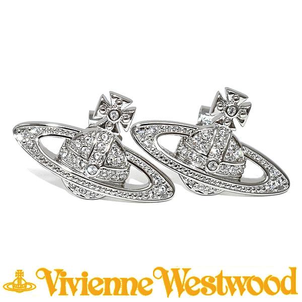 ヴィヴィアンウエストウッド ピアス Vivienne Westwood ミニバスレリーフ 724535B/1 (0019-01-02) シルバー