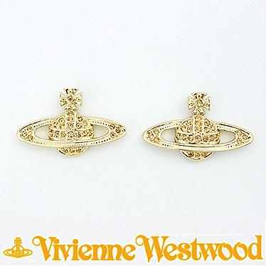 ヴィヴィアン ウエストウッド ピアス Vivienne Westwood MINI BAS RELIEF 724535B/2 (0019-14-62) ゴールド