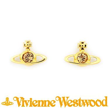 ヴィヴィアンウエストウッド ピアス Vivienne Westwood NANO SOLITAIRE 724497B/2 (1112-02-62) ゴールド
