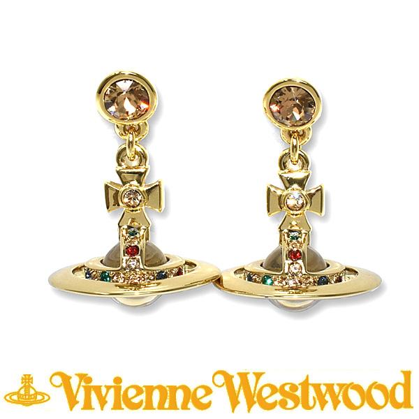 ヴィヴィアン ウエストウッド ピアス Vivienne Westwood PETITE ORB 724537B/2 (1467-14-01) ゴールド