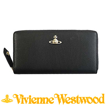 ヴィヴィアンウエストウッド 財布 Vivienne Westwood 長財布 ラウンドファスナー BALMORAL 51050022 ブラック
