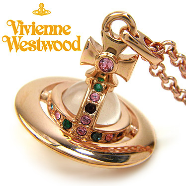 ヴィヴィアン ウエストウッド ネックレス Vivienne Westwood タイニーオーブ ペンダント 752014B/3 ローズゴールド 【楽ギフ_メッセ入力】