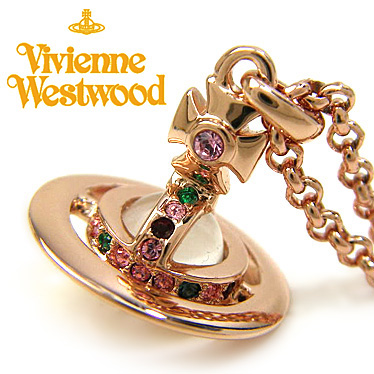 ヴィヴィアン ウエストウッド ネックレス Vivienne Westwood プチオーブ ペンダント 752116B/3 ローズゴールド 【楽ギフ_メッセ入力】