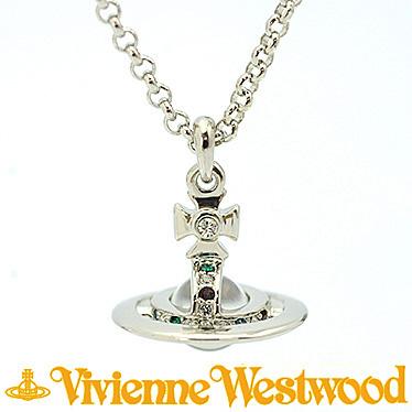 ヴィヴィアンウエストウッド ネックレス Vivienne Westwood プチオーブ ペンダント 752116B/1 (1504-01-01)シルバーカラー