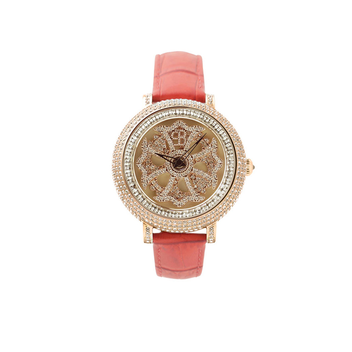 BRILLAMICO ブリラミコ 腕時計 メンズ レディース ペア ペアウォッチ 人気 ブランド 新品 正規取扱店 送料無料 GOLD x オープニング 大放出セール 40MM RED ラッピング無料 出荷 革ベルト 1年保証 スワロフスキー LILY