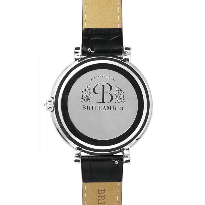 【正規取扱店】【1年保証】BRILLAMICO  NUMBER40MM BLACK×SILVER  正規取扱店 ブリラミコ 腕時計 スワロフスキー レディース メンズ 人気 ブランド ● ● ラッピング無料
