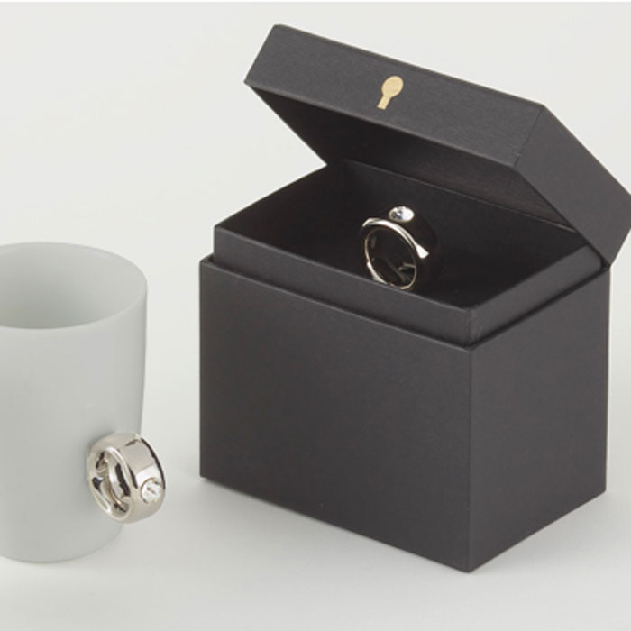 Floyd フロイド カップリング マグカップ ギフト 人気 本日限定 保証 指輪 コップ ウエディング セット ガラス 箱入り 引き出物 お祝い stone 新生活 食器 ring CL 引越し プレゼント 結婚祝い 取っ手silver おしゃれ Cup