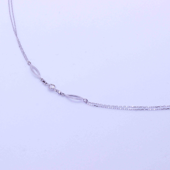 【B.colletto】ダイヤモンドオーバルブレスレット